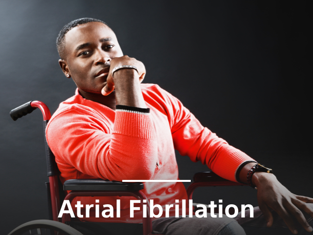 African American man in wheelchair with insights on AFib care