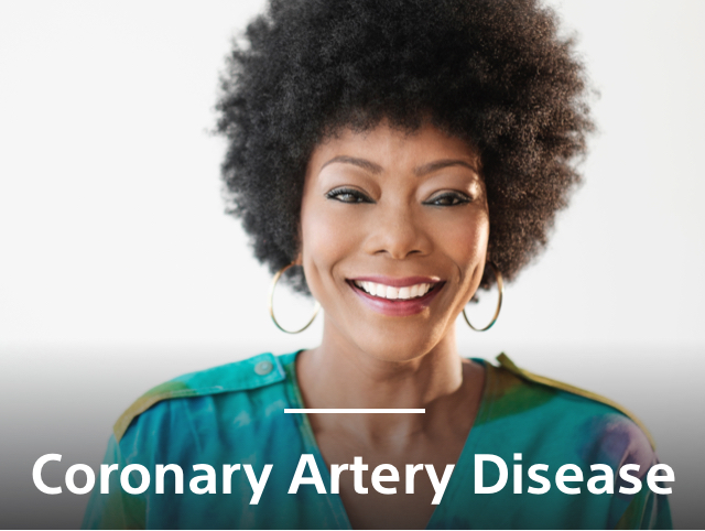 African American woman smiling with awareness of CAD care