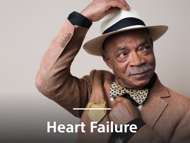 Elderly African American man contempt with awareness of Heart Failure care